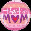 Folienballon thanks Mom, ca. 45 cm