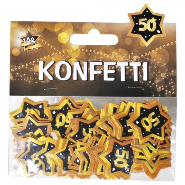 Streudeko 50 Sterne schwarz/gold, ca. 14 gr