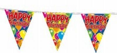 Wimpelkette Happy Birthday, 10 Meter