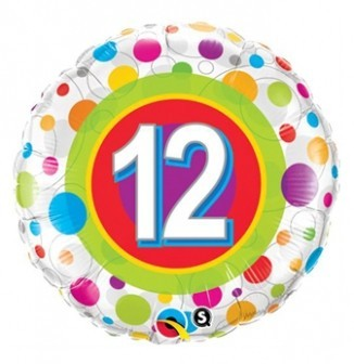 Folienballon 12, ca. 45 cm