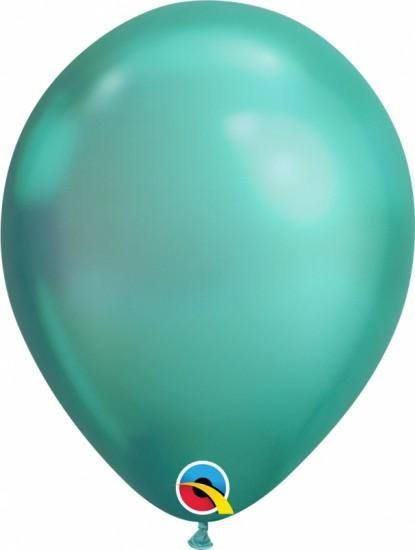 """10 Ballons Qualatex, 11"""", Chrome grün"""