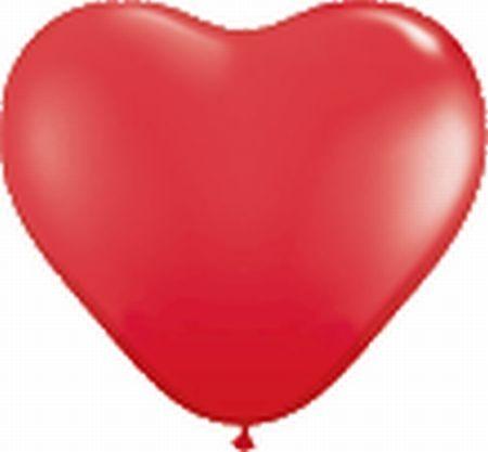 10 Herzballons, ca. 35 cm, rot