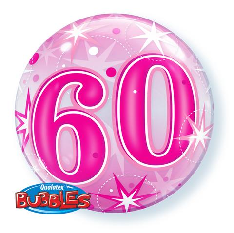 Bubble 60 Qualatex, pink, ca. 56 cm