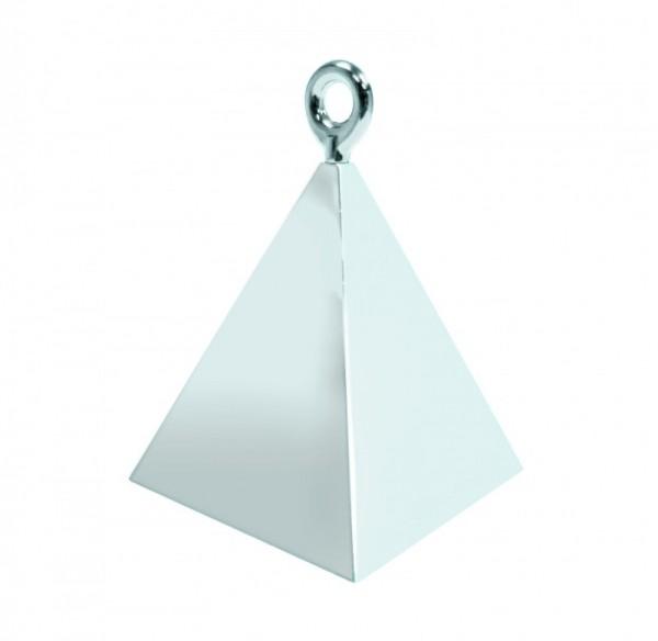 Ballongewicht Pyramide silber, ca. 150 gr.