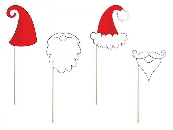Spaß-Props Weihnachtsmann, 4 St. - für Fotoshooting