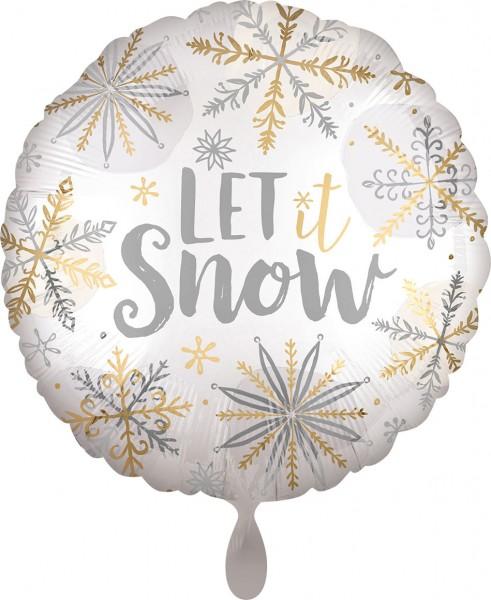 Folienballon Let it snow, ca. 45 cm