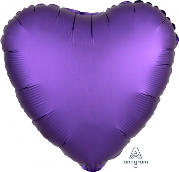 Folienherz SATIN lila, ca. 43 cm