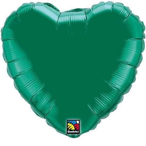 Folienherz, grün, 45 cm