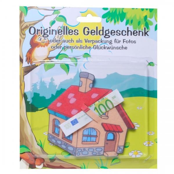 Haus Filz für z.B. Geldgeschenk Umzug, Richtfest etc. ca. 8,5 x 10,5 cm