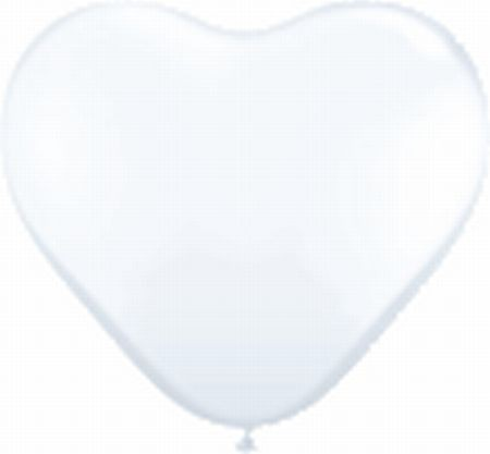 100 Mini-Herzballons, weiß