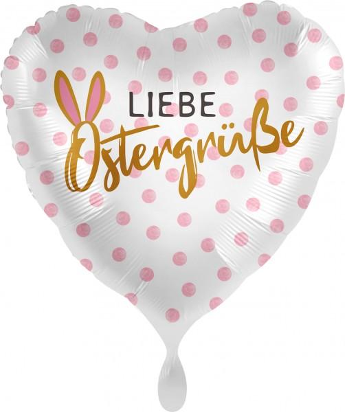Ballongruß XL: Herz Liebe Ostergrüße, ca. 70 cm