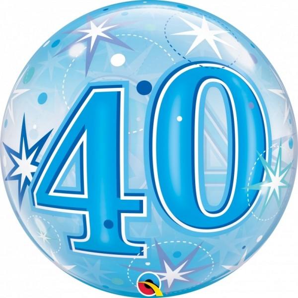 Bubble 40 BLAU, Qualatex, ca. 56 cm