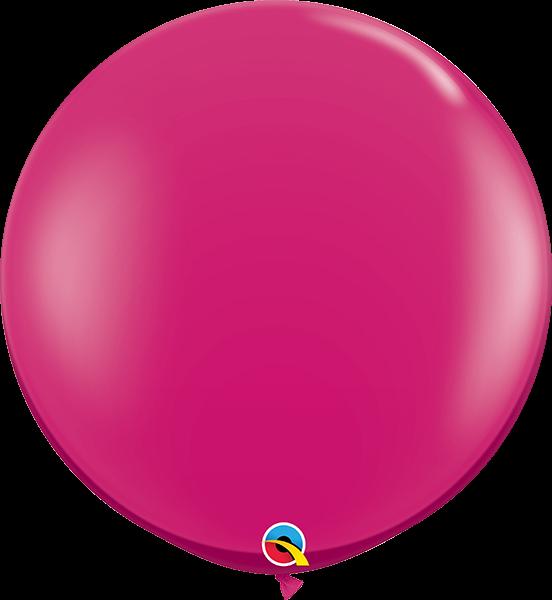 Riesenballon Qualatex, ca. 90 cm, wildberry/beerenfarben