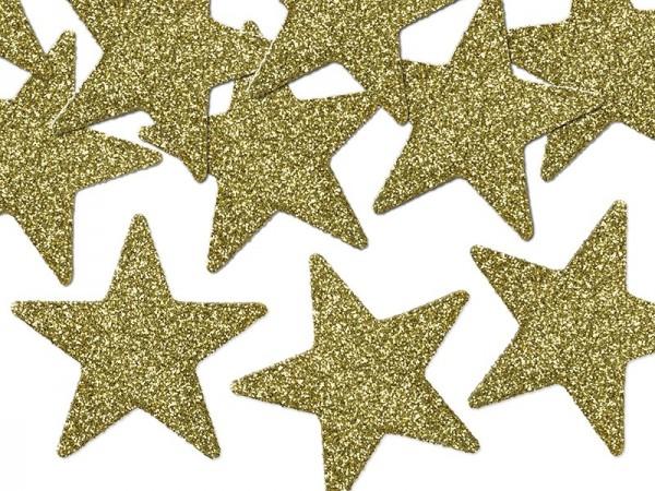 Streudeko Glitter Sterne GOLD, ca. 5 cm, 8 Stück