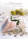Grußkarte: Zur silbernen Hochzeit die besten Wünsche - Dekoherzen