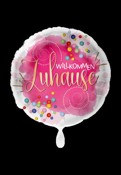 Folienballon Willkommen Zuhause, ca. 45 cm