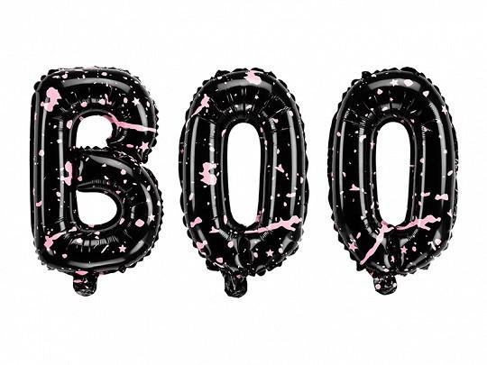 Folienballons Schriftzug BOO, ca. 65x35cm