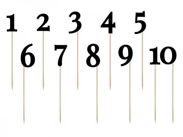 Picker Zahlen 1 - 10, ca. 26 cm, 11 St.
