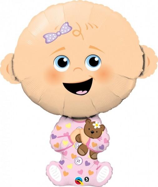 Ballongruß: Baby Girl, ca. 93 cm