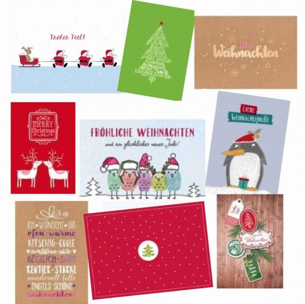 Postkarten Sortiment Weihnachten, 10 St.
