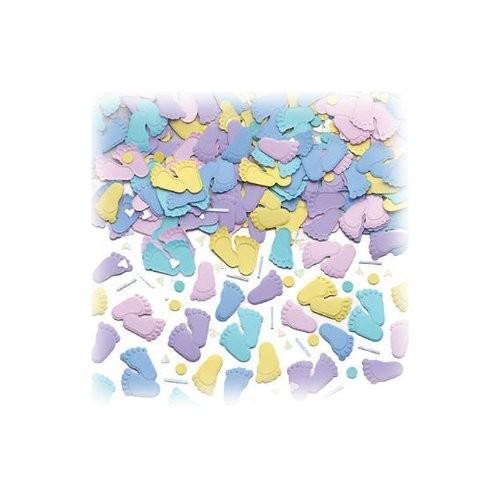Folien-Konfetti Füßchen, bunt gemischt, ca. 14 gr.