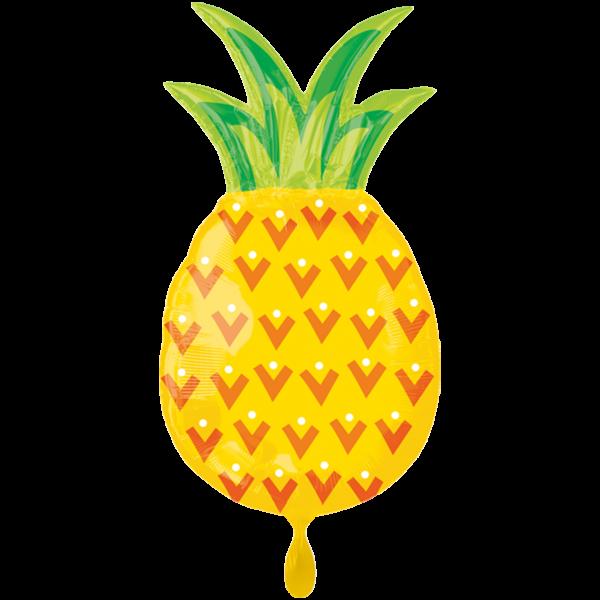 Ballongruß XL: Ananas, ca. 75 cm