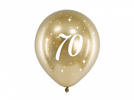 Ballons 70, gold glossy, ca. 30 cm, 6 St.