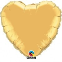Folienherz, 90 cm, gold
