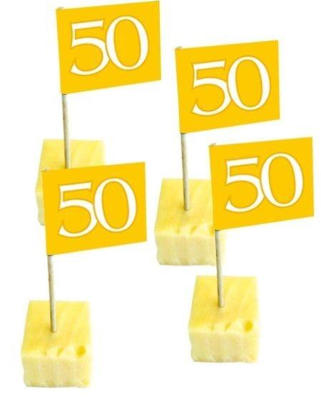 Fähnchen/Picker 50 gold, 50 St.