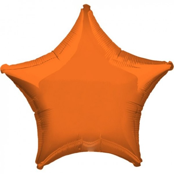 Folienstern orange, ca. 45 cm