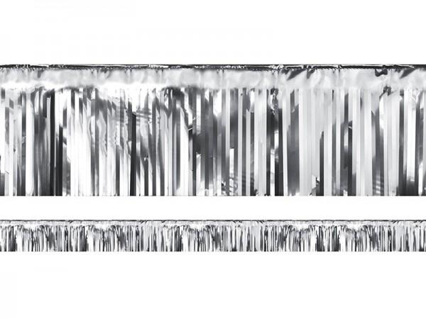 Lamettagirlande Fransengirlande silber, 4 Meter