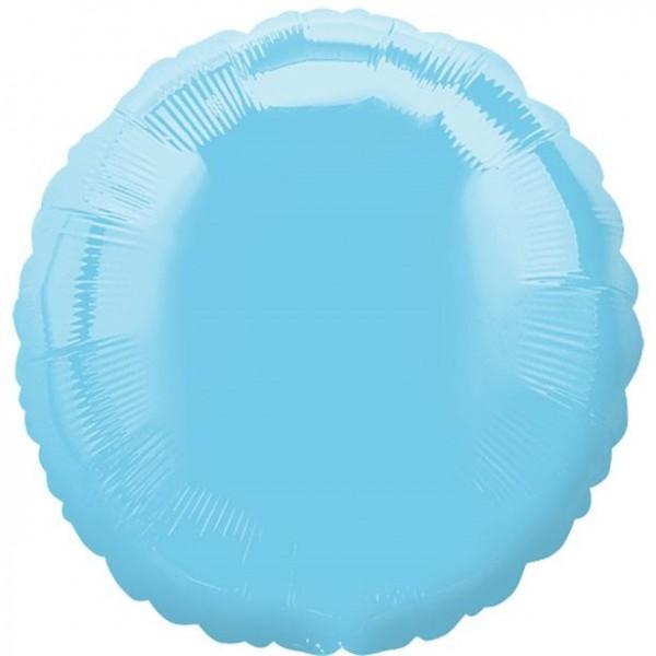 Folienballon rund hellblau, ca. 45 cm