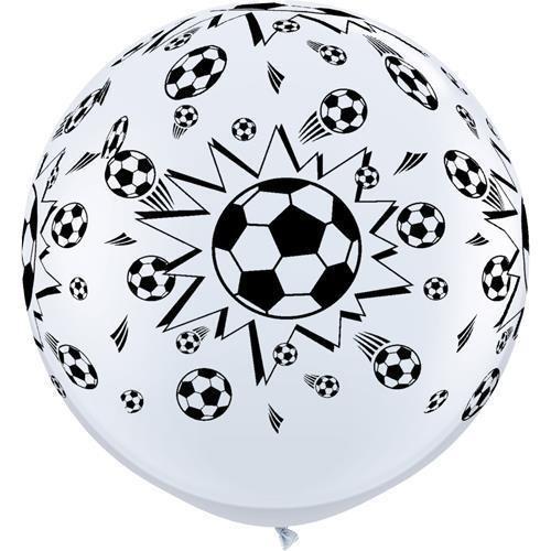 Riesenballon Fußball, 90 cm, Qualatex
