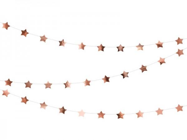 Girlande Sterne ROSE GOLD, ca. 3,6 M.