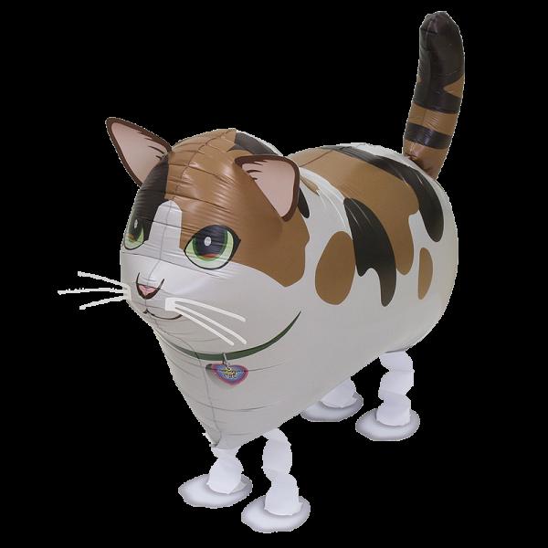 Ballongruß: Katze gefleckt, Airwalker, ca. 60 cm